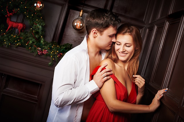 milenci o vánocích