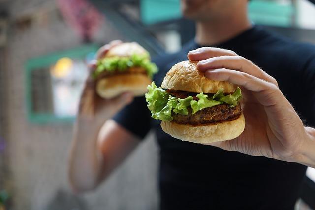 veganský hamburger